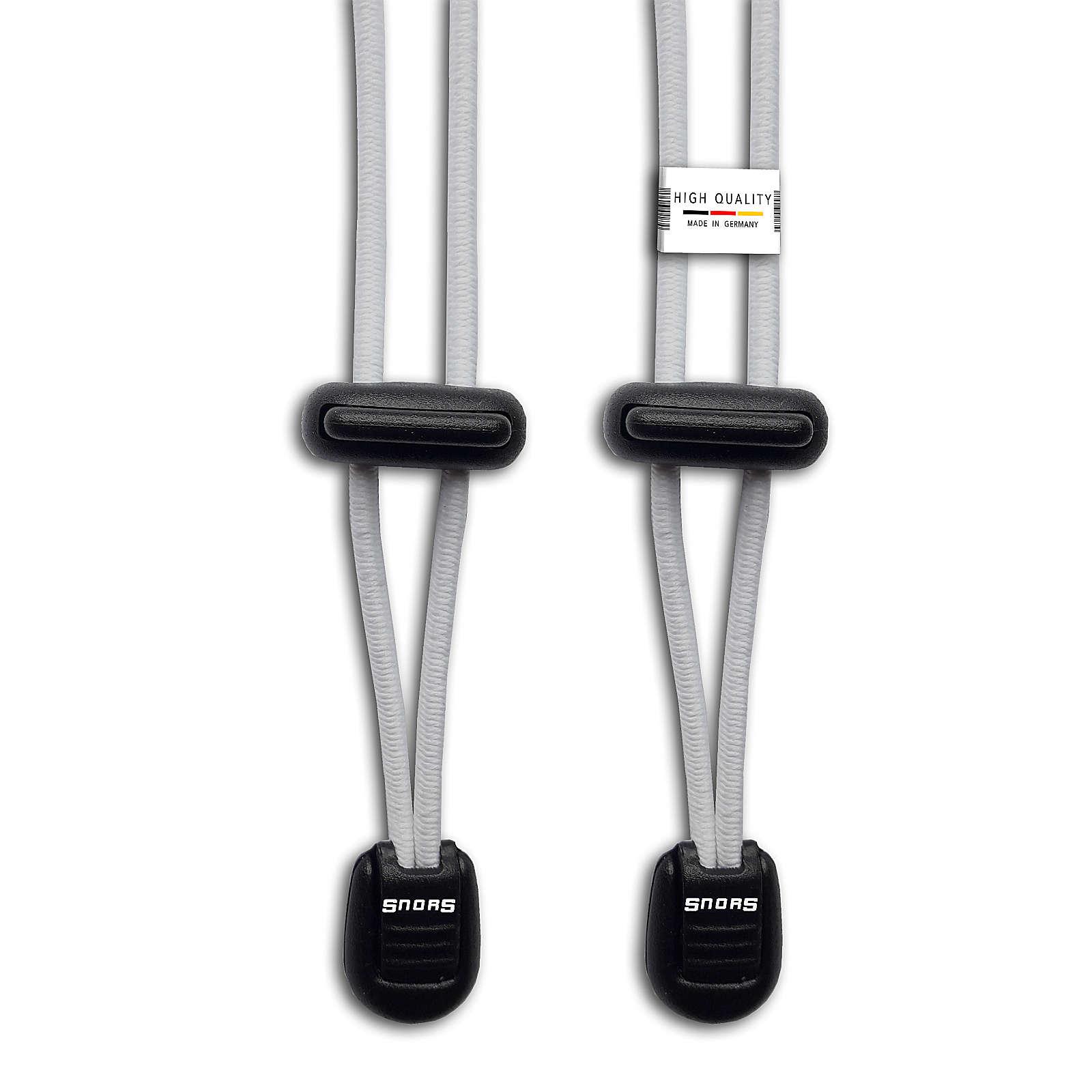 SNORS shoefriends Schnürsystem 120cm - elastische Schnürsenkel mit Schnellverschluss Schnürsenkel hellgrau Gr. 120