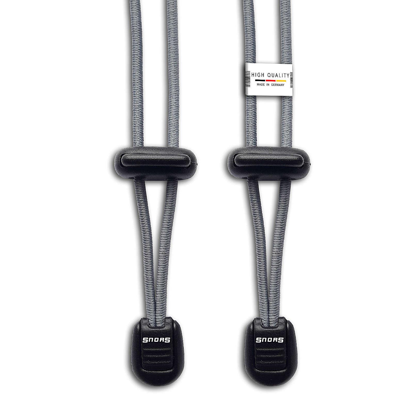 SNORS shoefriends Schnürsystem 120cm - elastische Schnürsenkel mit Schnellverschluss Schnürsenkel grau Gr. 120