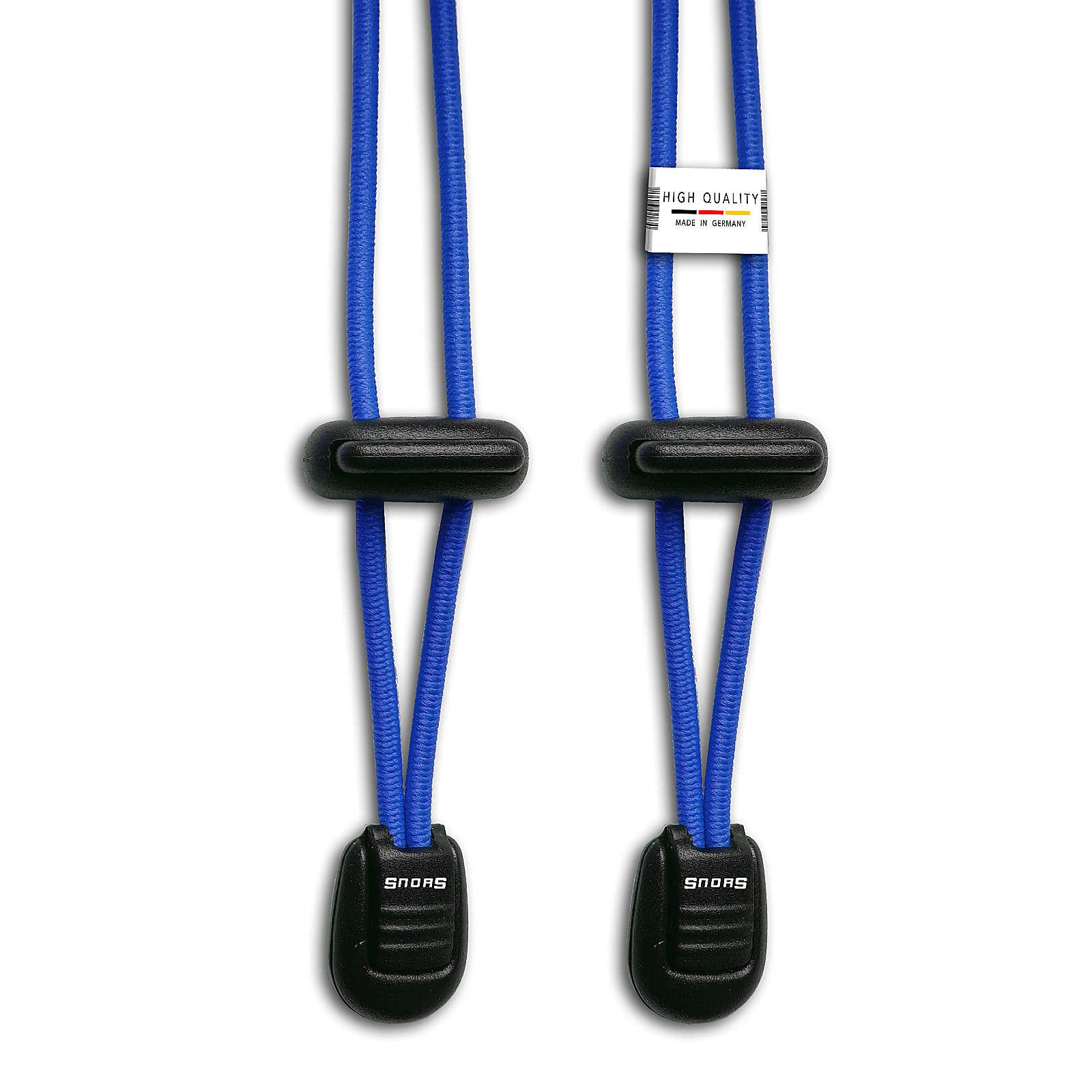 SNORS shoefriends Schnürsystem 120cm - elastische Schnürsenkel mit Schnellverschluss Schnürsenkel blau Gr. 120