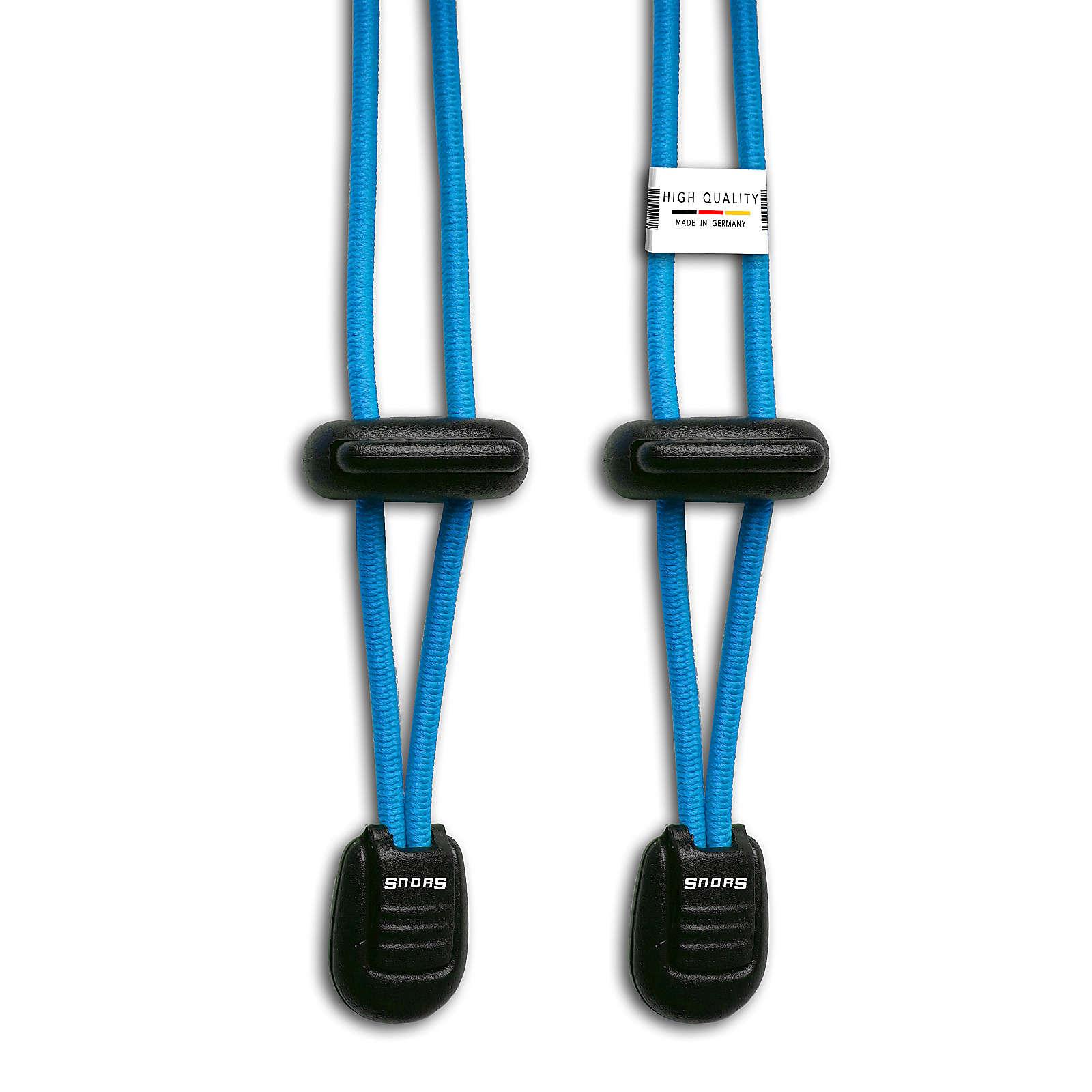 SNORS shoefriends Schnürsystem 120cm - elastische Schnürsenkel mit Schnellverschluss Schnürsenkel türkis Gr. 120