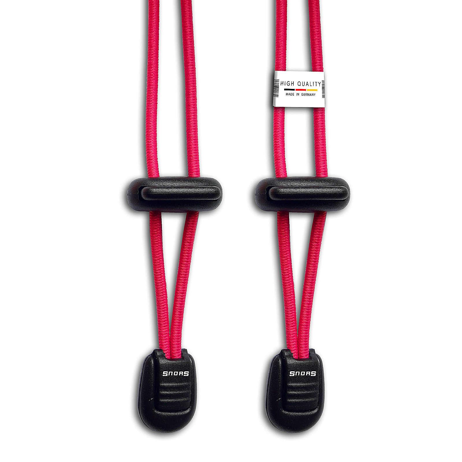 SNORS shoefriends Schnürsystem 120cm - elastische Schnürsenkel mit Schnellverschluss Schnürsenkel pink Gr. 120