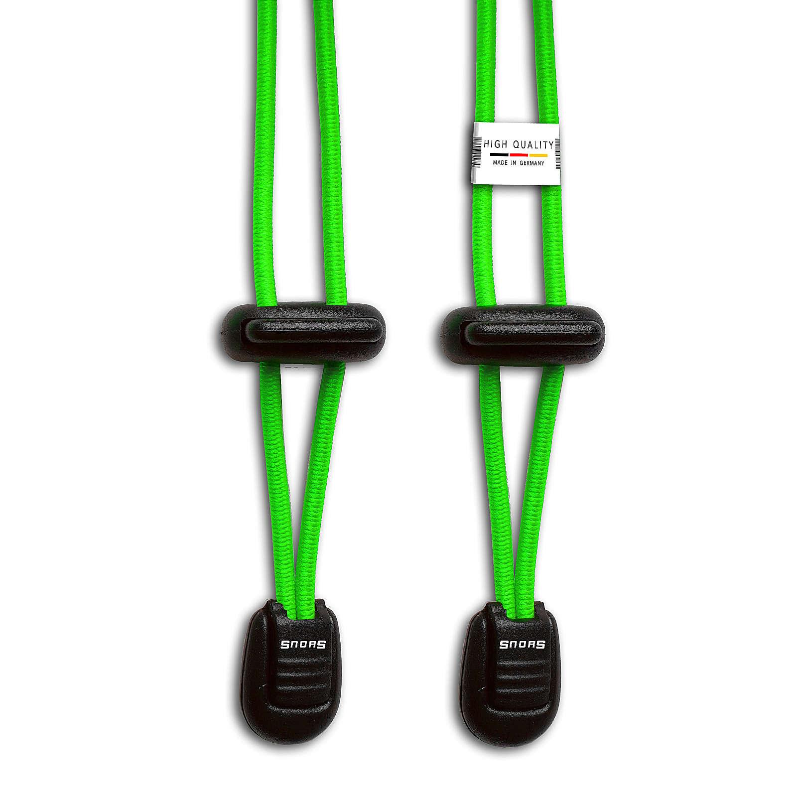 SNORS shoefriends Schnürsystem 120cm - elastische Schnürsenkel mit Schnellverschluss Schnürsenkel neongrün Gr. 120