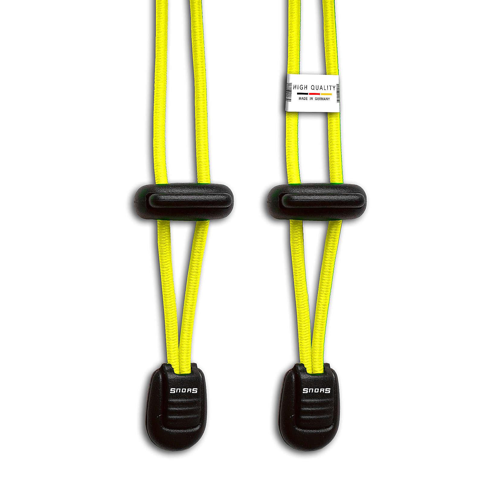 SNORS shoefriends Schnürsystem 120cm - elastische Schnürsenkel mit Schnellverschluss Schnürsenkel neongelb Gr. 120