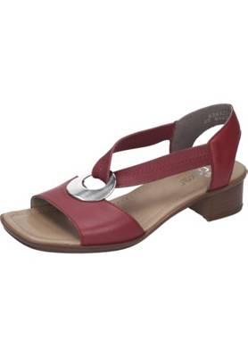 rieker, Damen Sandalette Klassische Sandaletten, rot   mirapodo qXPpv