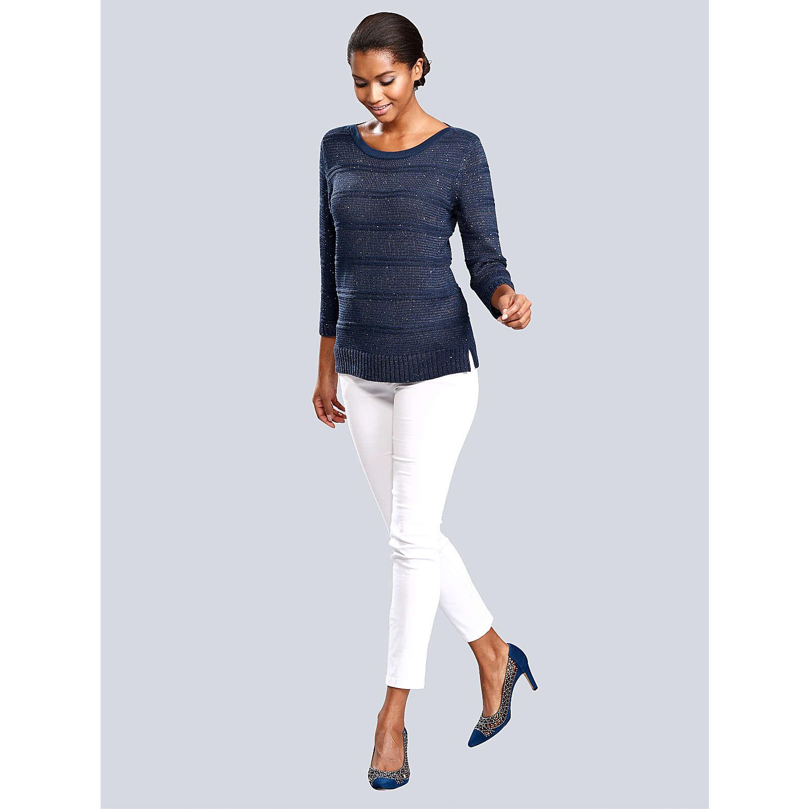 Alba Moda Pullover dunkelblau Damen Gr. 38
