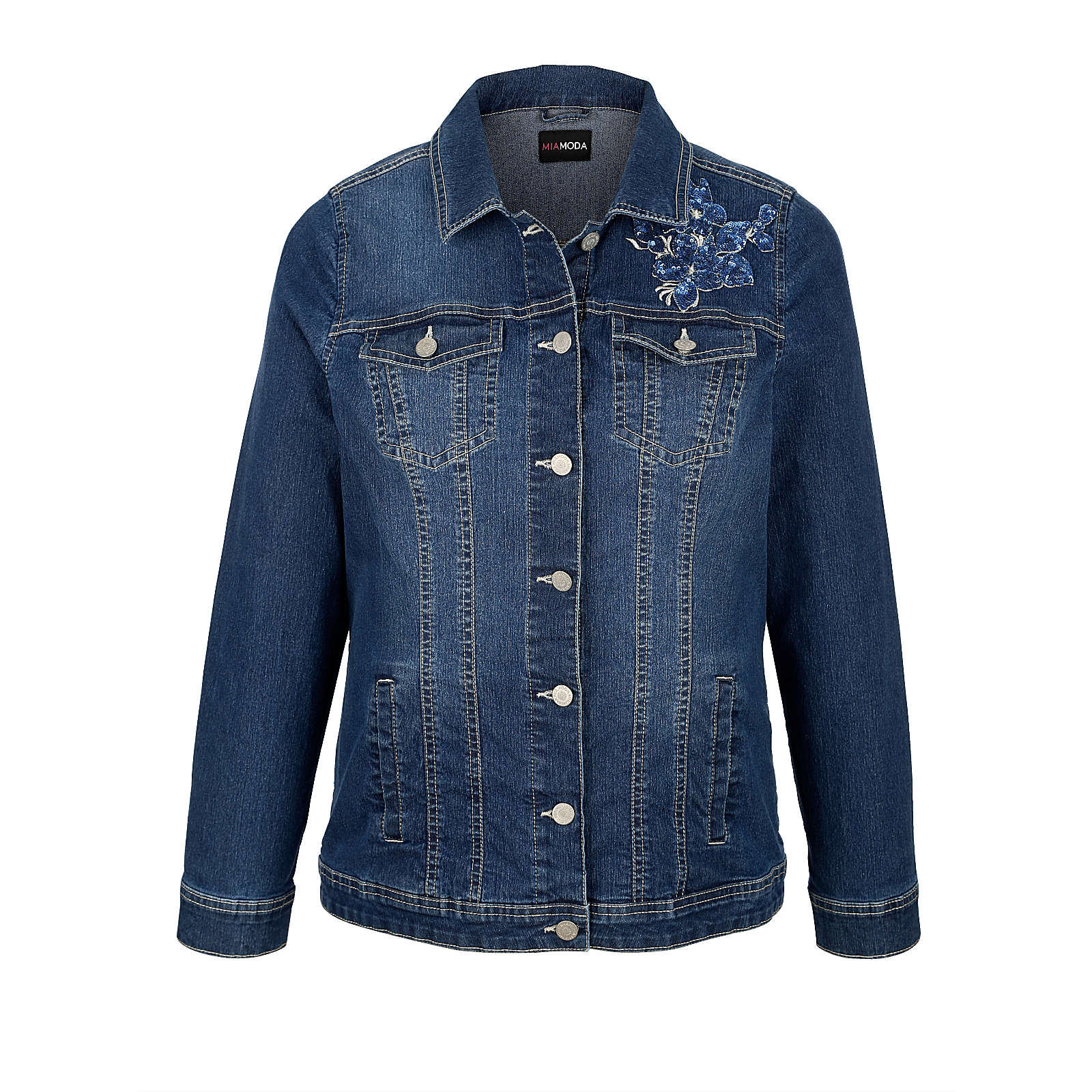 MIAMODA Jeansjacke blue denim Damen Gr. 42