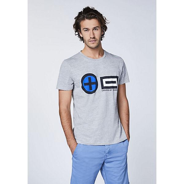 Chiemsee Im Plusminus Frontprint designGots Gold shirt Zertifiziert kombi T thrdCsQ