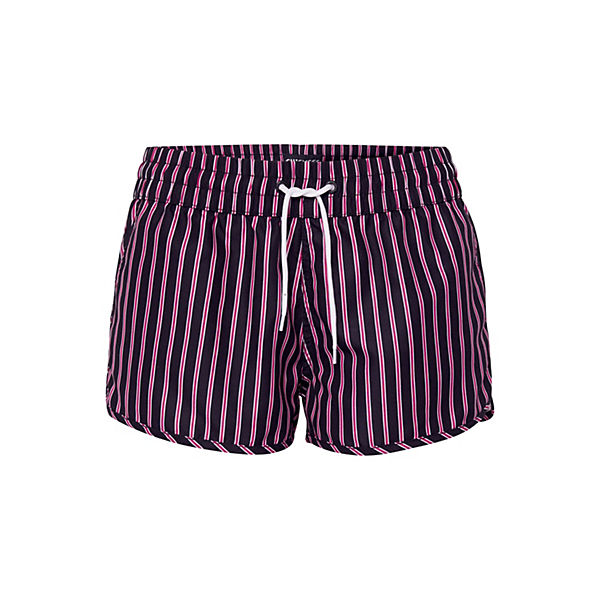 Mit Chiemsee Schwarz pink Trendigem Badeshorts Alloverprint j3RqcLS54A