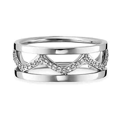 Cai Ringe cai Ring 925/- Sterling Silber rhodiniert Topas