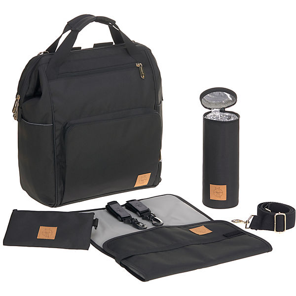 Wickelrucksack Glam Goldie, Backpack, black