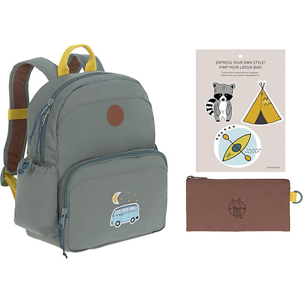 Kindergarten-Rucksack 4Kids, Medium Backpack, Adventure Bus, blue