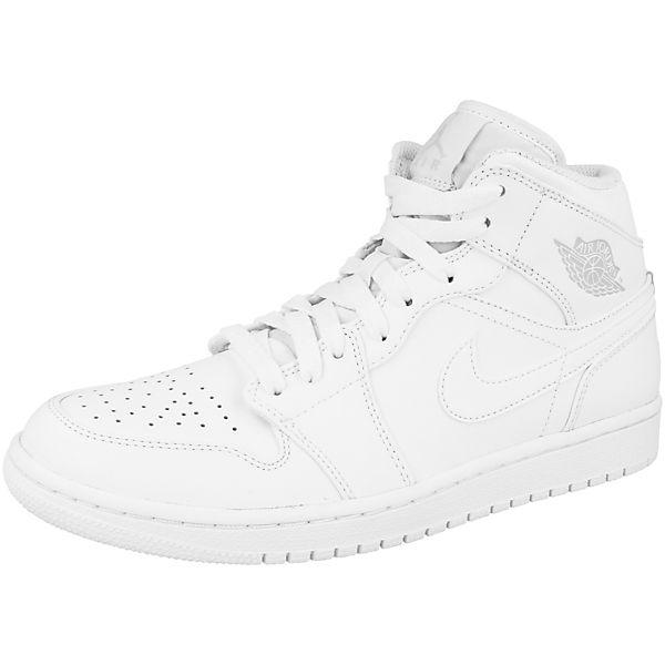 1 Mid Sneakers Schuhe High Sportswear Air Jordan Nike Weiß W9HIE2YD