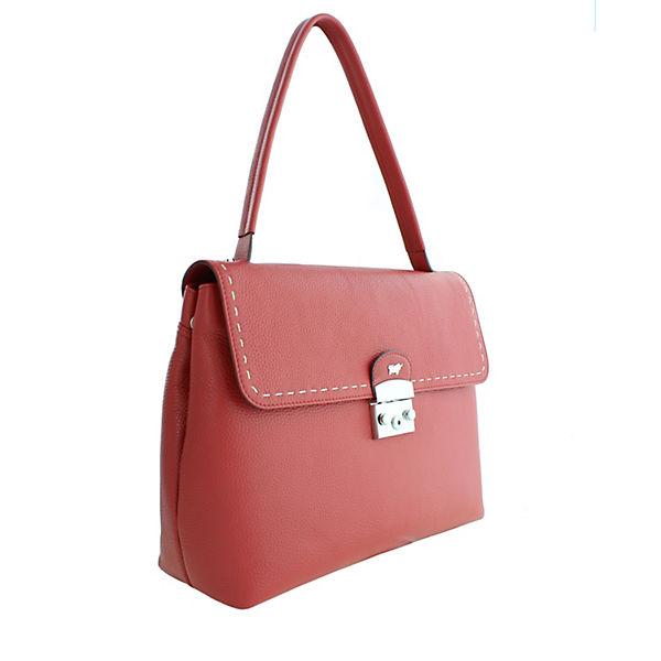 Braun In Elegantem Rot Henkeltasche Vienna Design Handtaschen Büffel sdhCxQtr