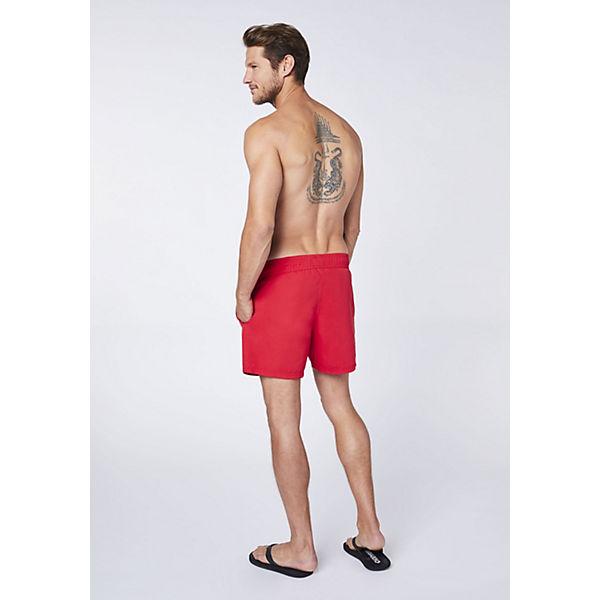 Badeshose Eingrifftaschen Mit Chiemsee Einfarbig Rot PwO8n0k