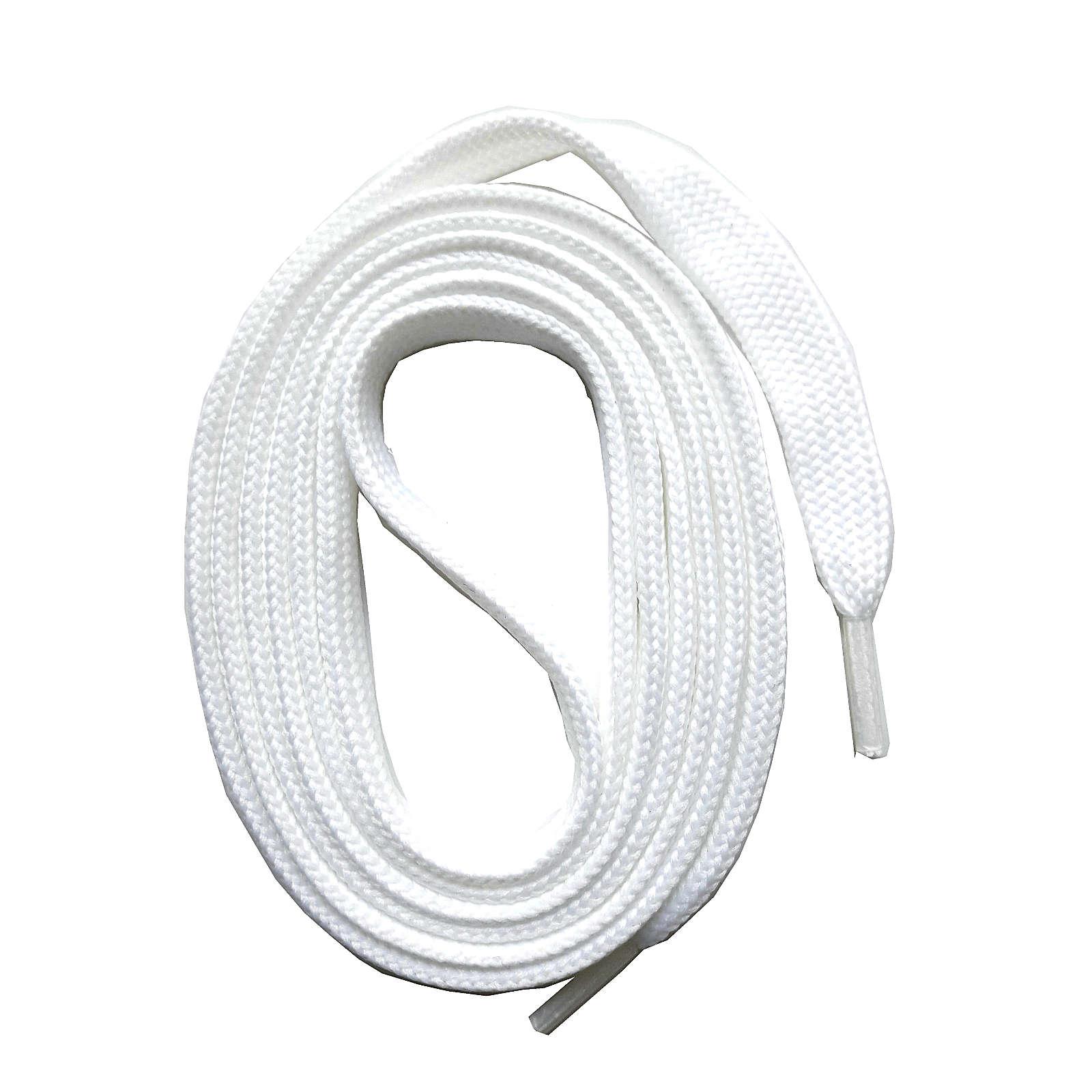SNORS shoefriends Schnürsenkel flach 60-240cm, 7mm aus Polyester Schnürsenkel weiß Gr. 60