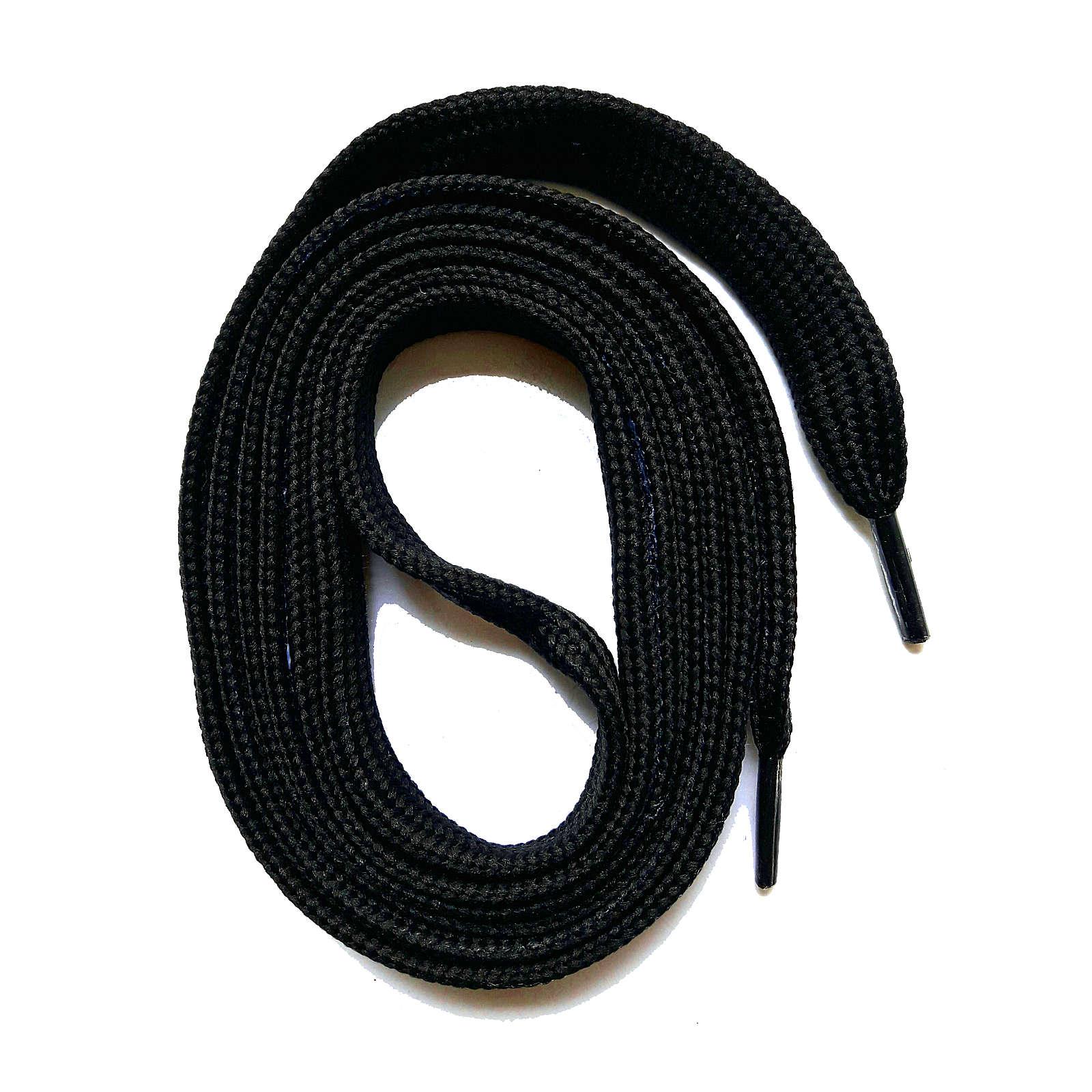 SNORS shoefriends Schnürsenkel flach 60-240cm, 7mm aus Polyester Schnürsenkel schwarz Gr. 60