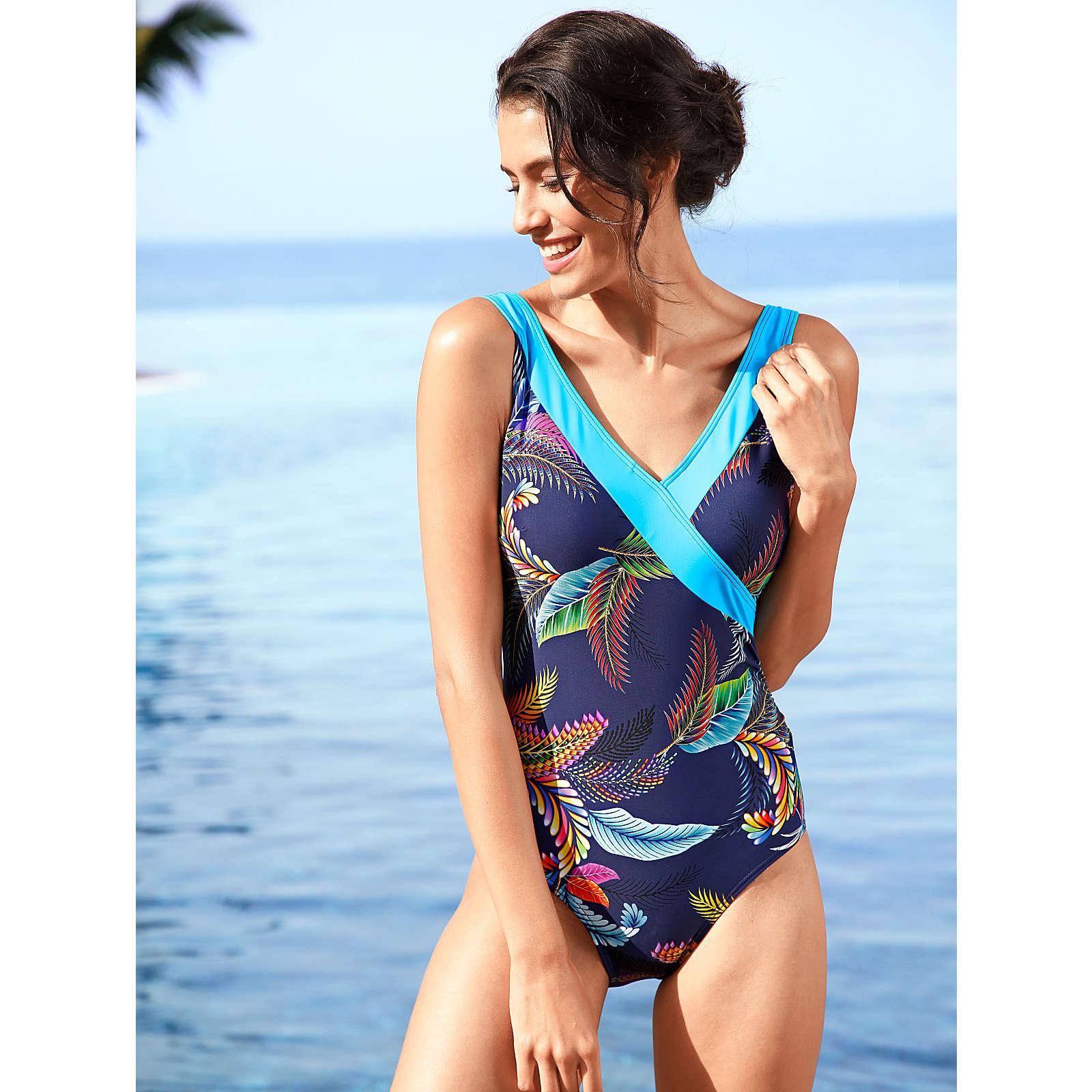 Maritim Badeanzug mehrfarbig Damen Gr. 38
