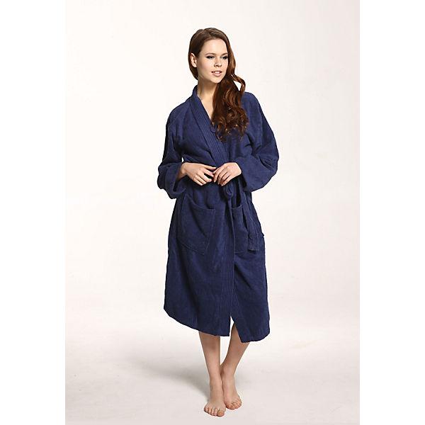 Grace Frottierware Bademäntel Kimono Grand Weicher Spa Blau Bademantel Aus zpSMVqU