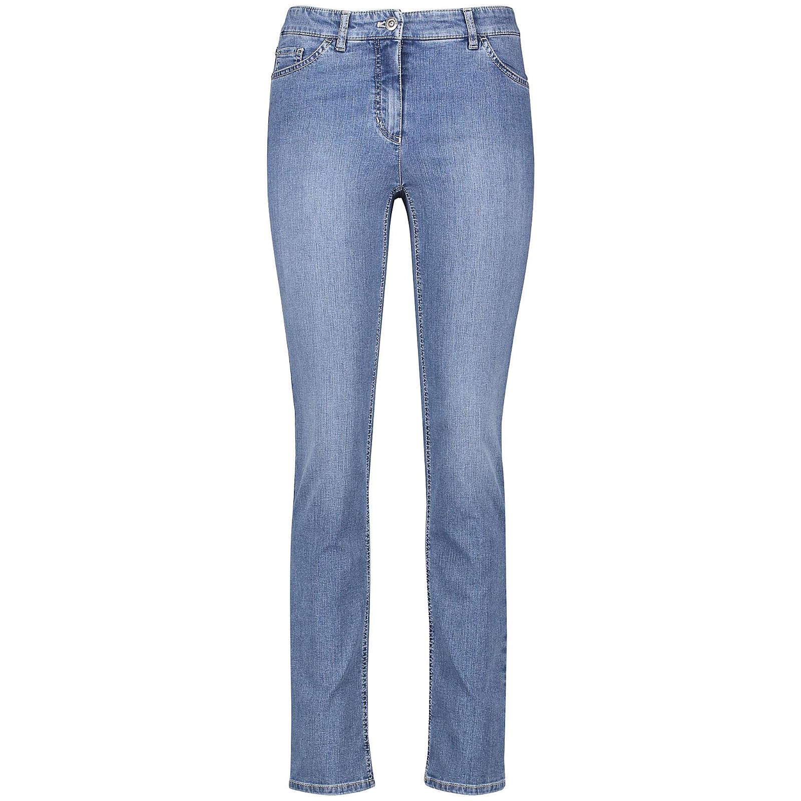 Gerry Weber Hose Jeans lang 5-Pocket Jeans Straight Fit Romy blau Damen Gr. 44