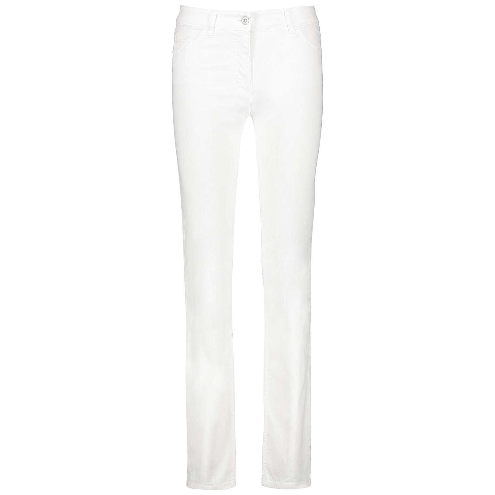 Gerry Weber Hose Jeans lang 5-Pocket Jeans Straight Fit Romy weiß Damen Gr. 44