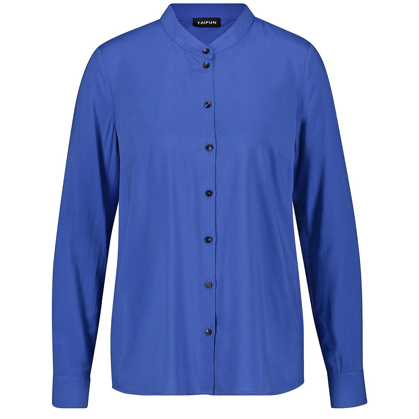 Taifun Bluse Langarm Klassische Bluse blau Damen Gr. 44