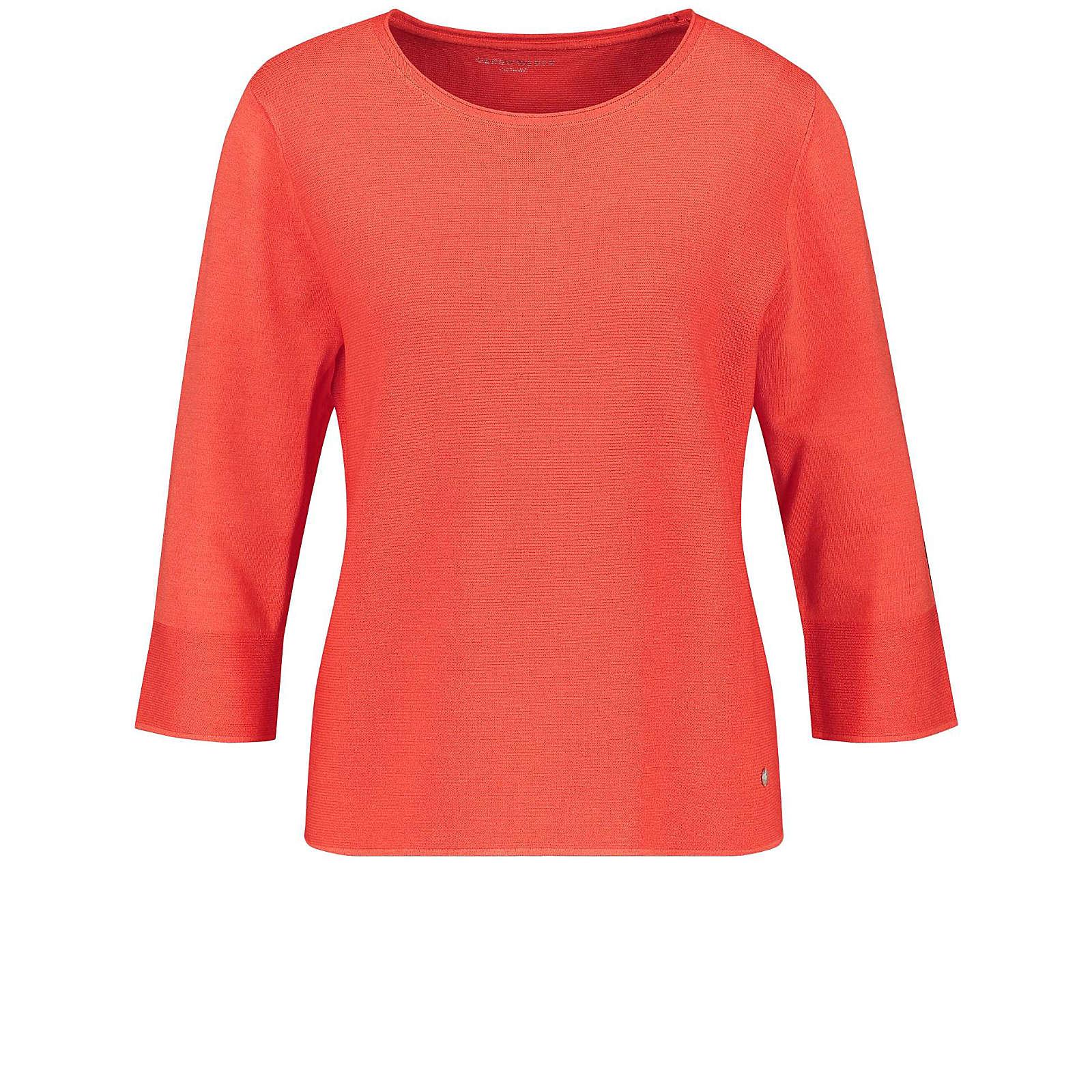Gerry Weber Pullover 3/4 Arm Rundhals 3/4 Arm Pullover mit Strukturstrick rosa Damen Gr. 40