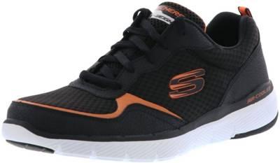 SKECHERS 52954BKOR Flex Advantage 3.0 Herren Sneaker schwarzorange