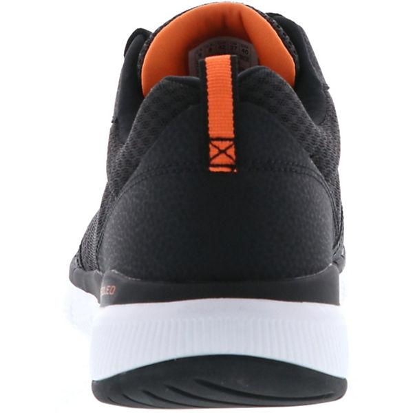 Velocidad supersónica Civil equilibrio  SKECHERS, SKECHERS 52954/BKOR Flex Advantage 3.0 Herren Sneaker  schwarz/orange, schwarz   mirapodo