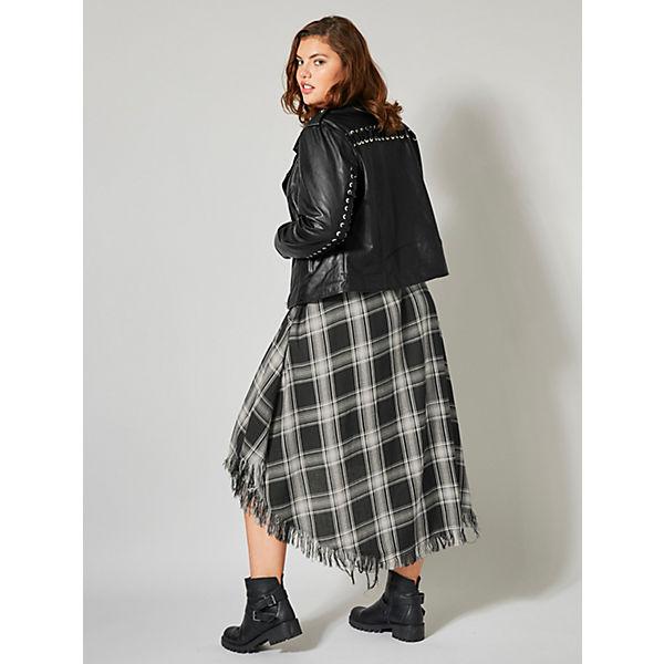 Of Schwarz Angel kleid Style Kariert Vokuhila Mit Fransensaum dCoQxeBWr