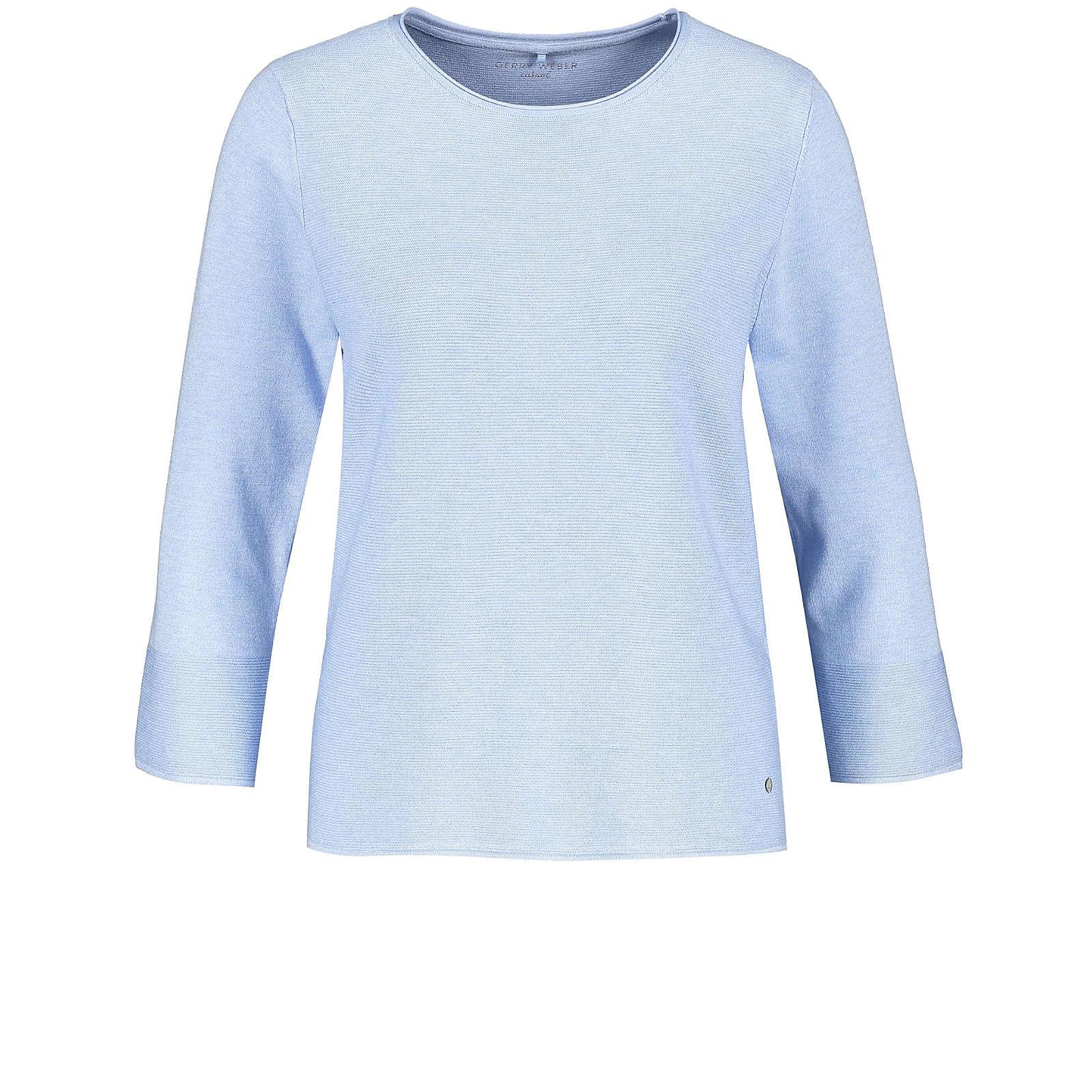 Gerry Weber Pullover 3/4 Arm Rundhals 3/4 Arm Pullover mit Strukturstrick mehrfarbig Damen Gr. 48