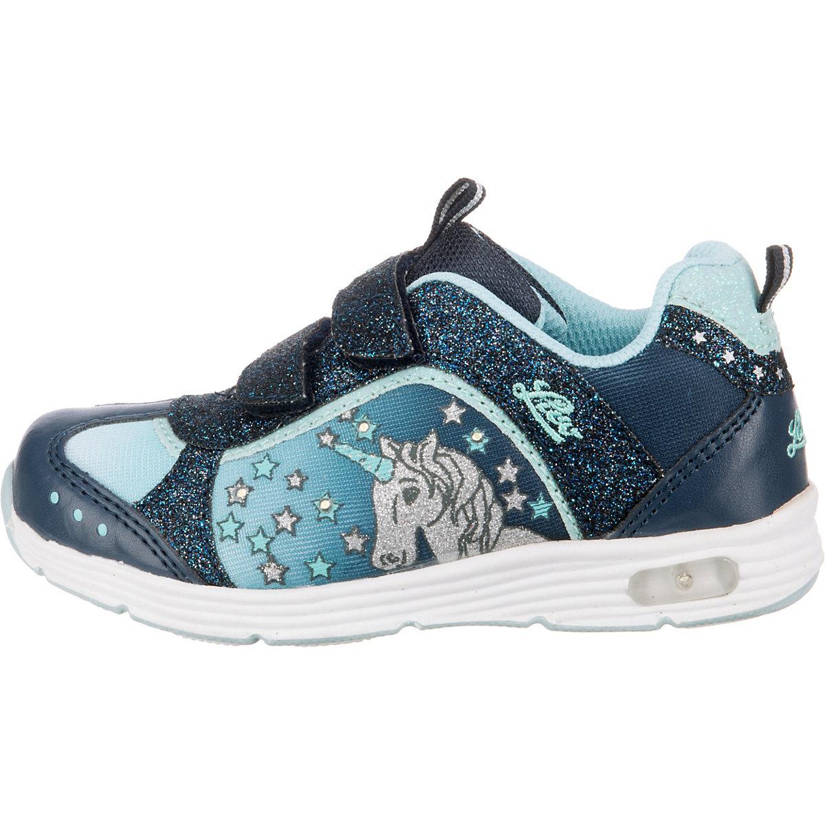 Lico, Sneakers Low Unicorn V Blinky Für Mädchen, Dunkelblau