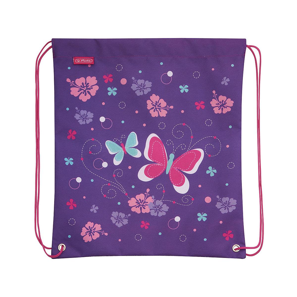 Herlitz, Schulrucksackset Motion Plus Butterfly, 4-tlg., Lila