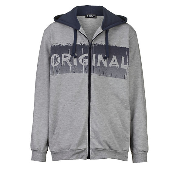 grau Men Kapuzensweatjacke Men Plus Kapuzensweatjacke Blau Plus SMLUzVpqG