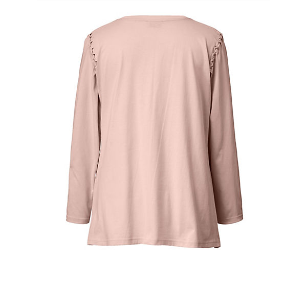Of Angel Frontprint Shirt Style Rosa Mit 54R3jqAL