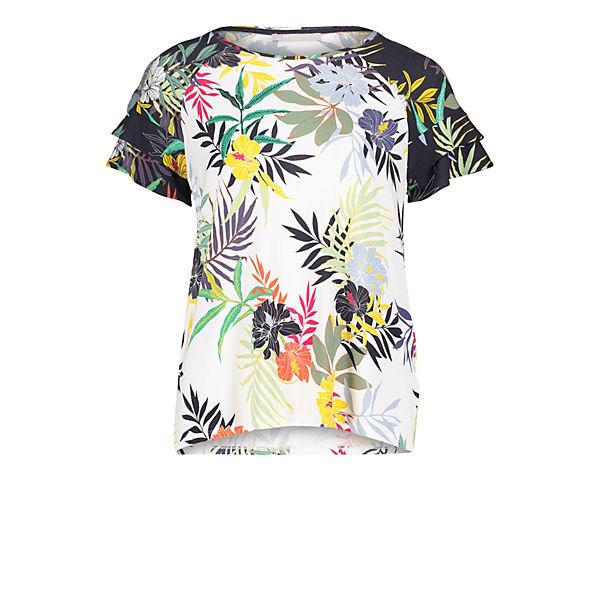 Bettyamp; Co Halbarm shirt Mit Volant Weiß kombi SqzMVUp