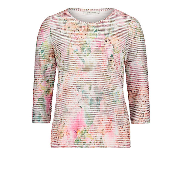 Rosa Betty Barclay shirt Mit Wellenstruktur Basic fb6vgI7myY