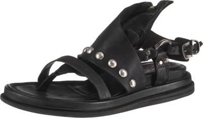 sandalen schwarz mitreissverschluss