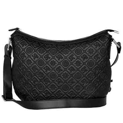 a343b12083201 Silvio Tossi Lederschultertasche mit ansprechendem Muster Handtaschen ...