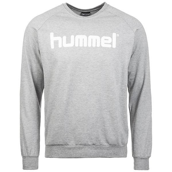 Hummel Cotton Herren Grau Logo Sweatshirt bIE2eDHYW9