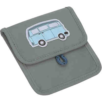 Brustbeutel 4Kids, Mini Neck Pouch, Adventure Bus, blue