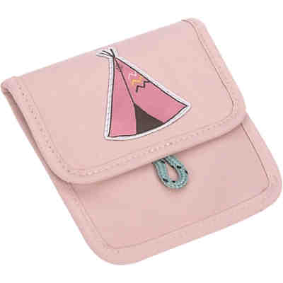 Brustbeutel 4Kids, Mini Neck Pouch, Adventure Tipi, pink