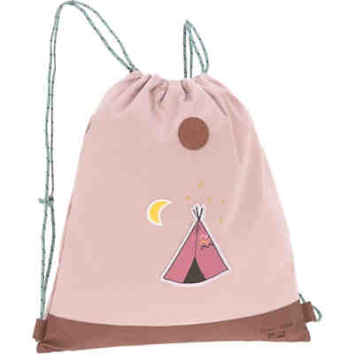 Sportbeutel 4kids, String Bag, Adventure Tipi, pink