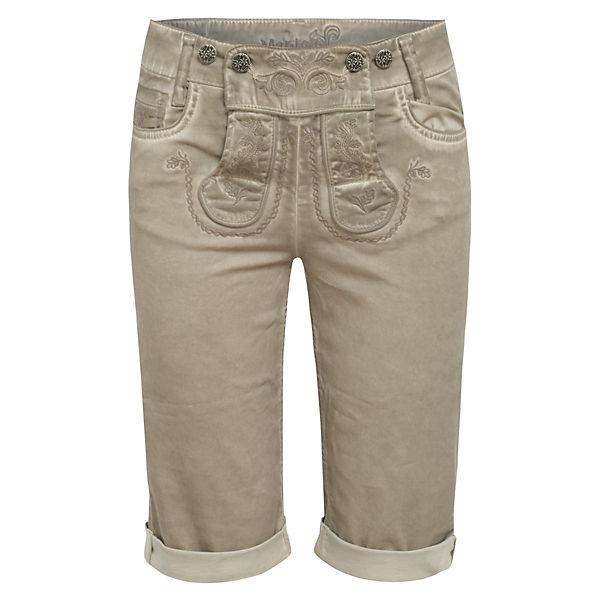 Shorts lederhose Marjo Jeans Grau Y7gb6fy