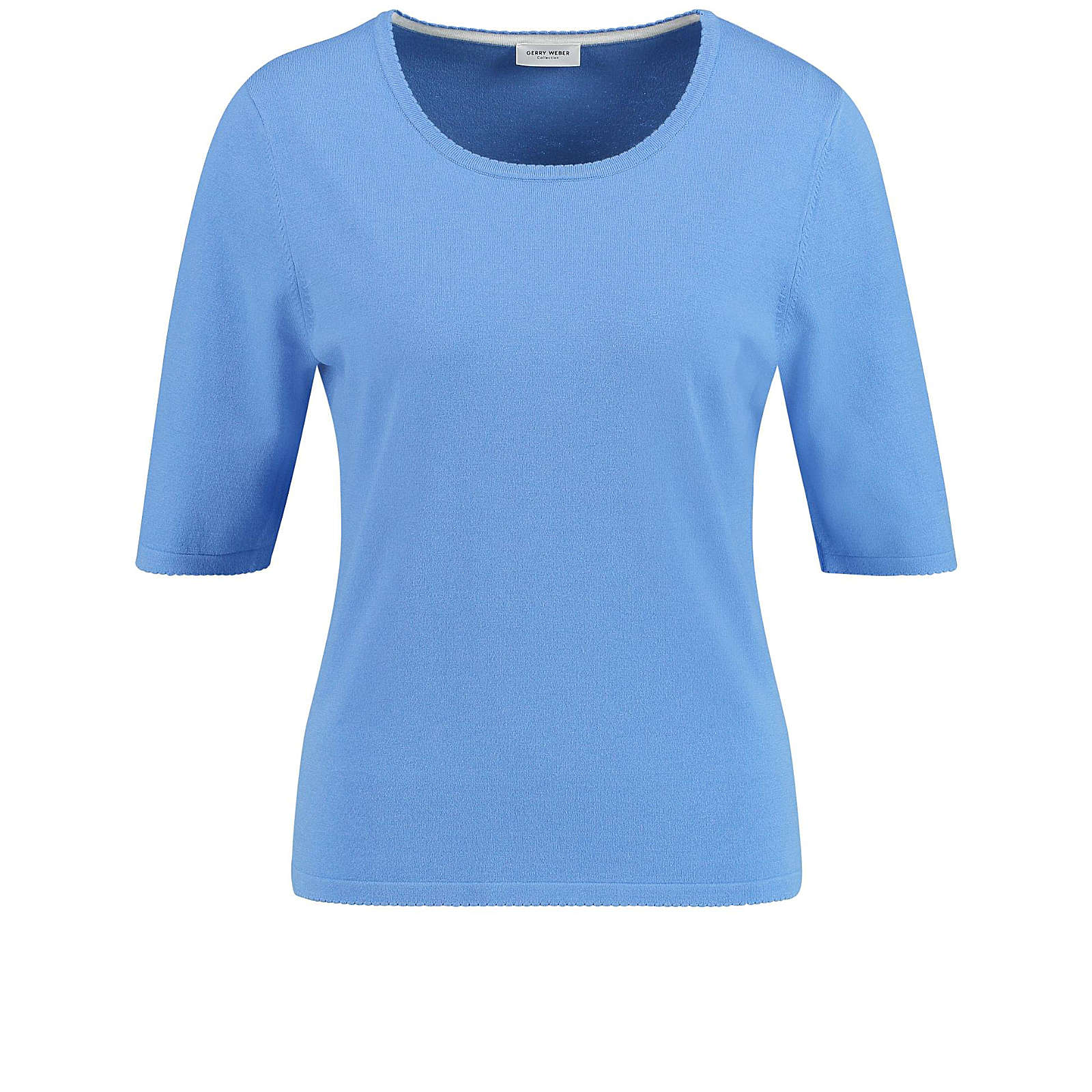 Gerry Weber Strick, Shirt, Top, Body Kurzarm-Pullover blau Damen Gr. 42