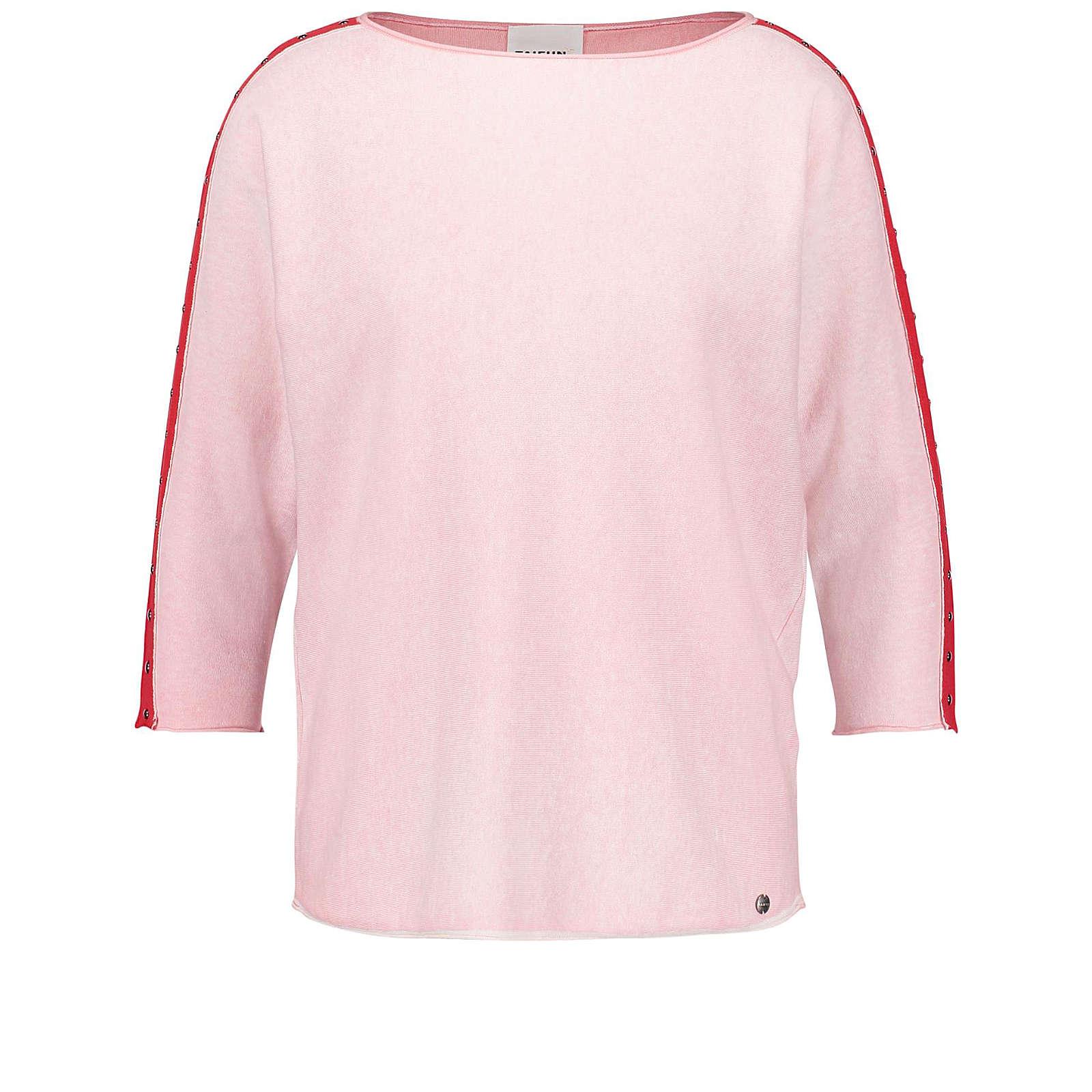 Taifun Pullover 3/4 Arm Rundhals 3/4 Arm Pullover mit Nieten rosa Damen Gr. 40
