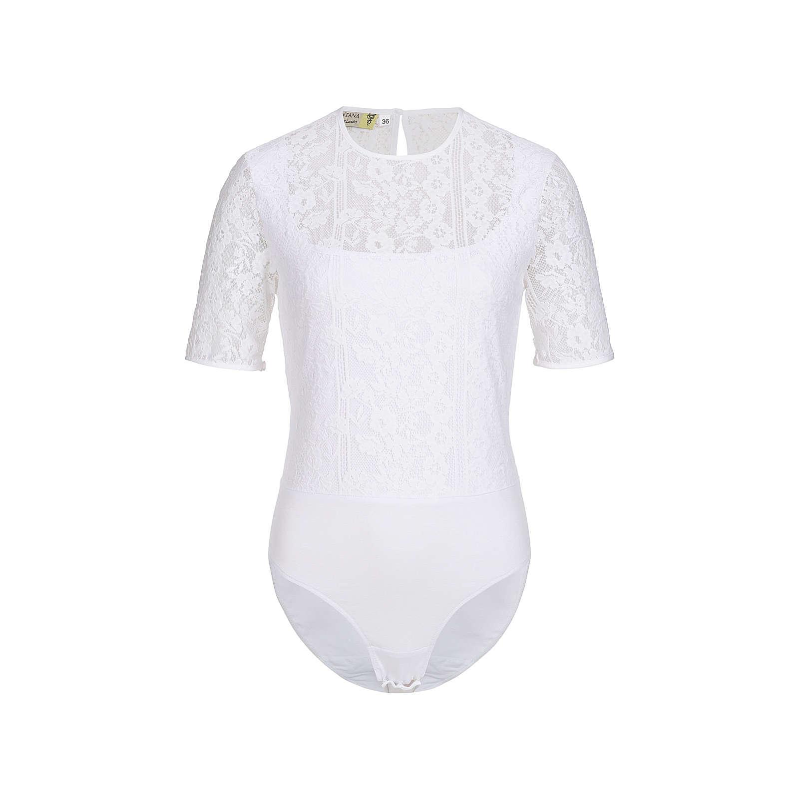 Blusenbody in weiß von Tramontana Langarmblusen weiß Damen Gr. 48
