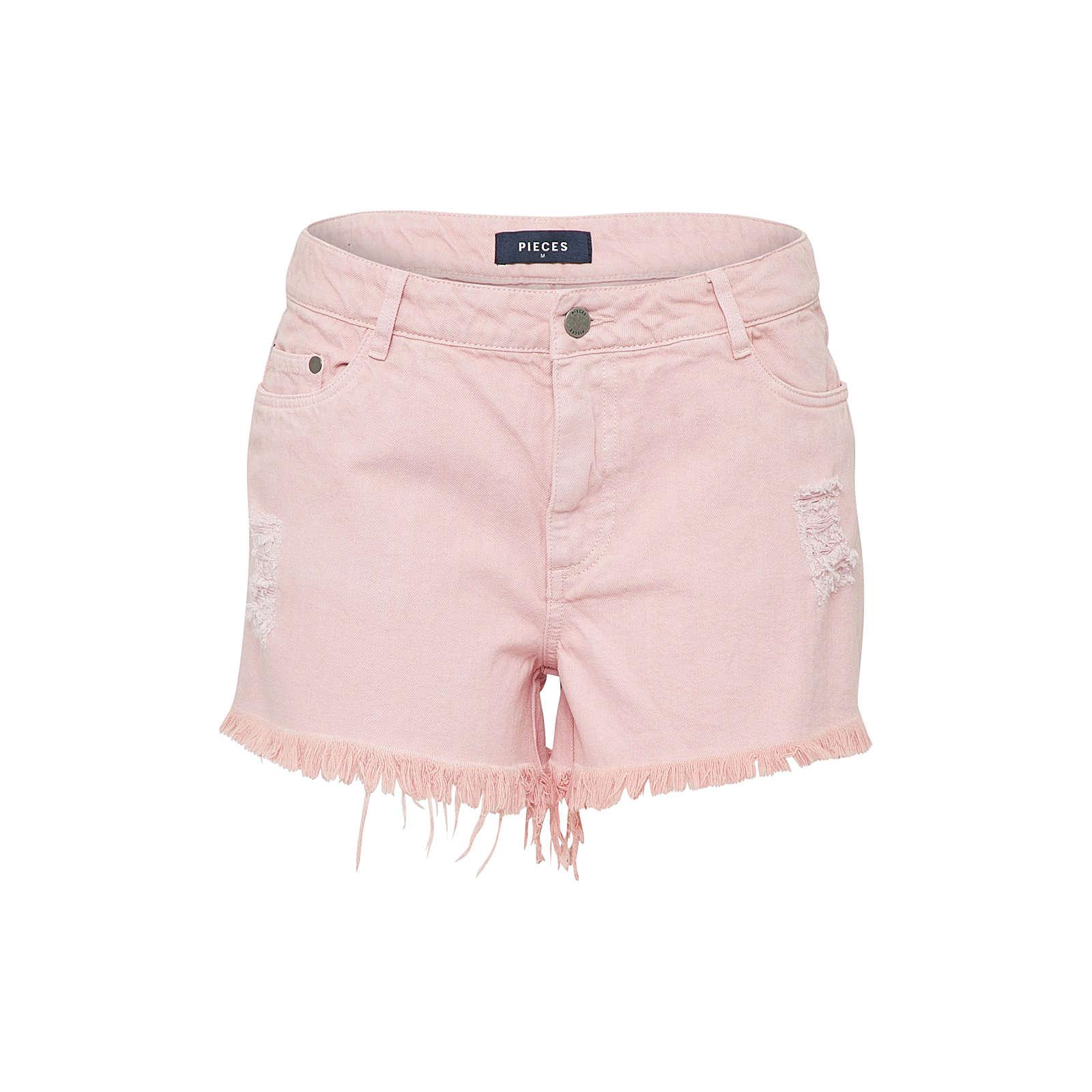 PIECES Jeans STRAIGHT GABI Jeanshosen rosa Damen Gr. 32