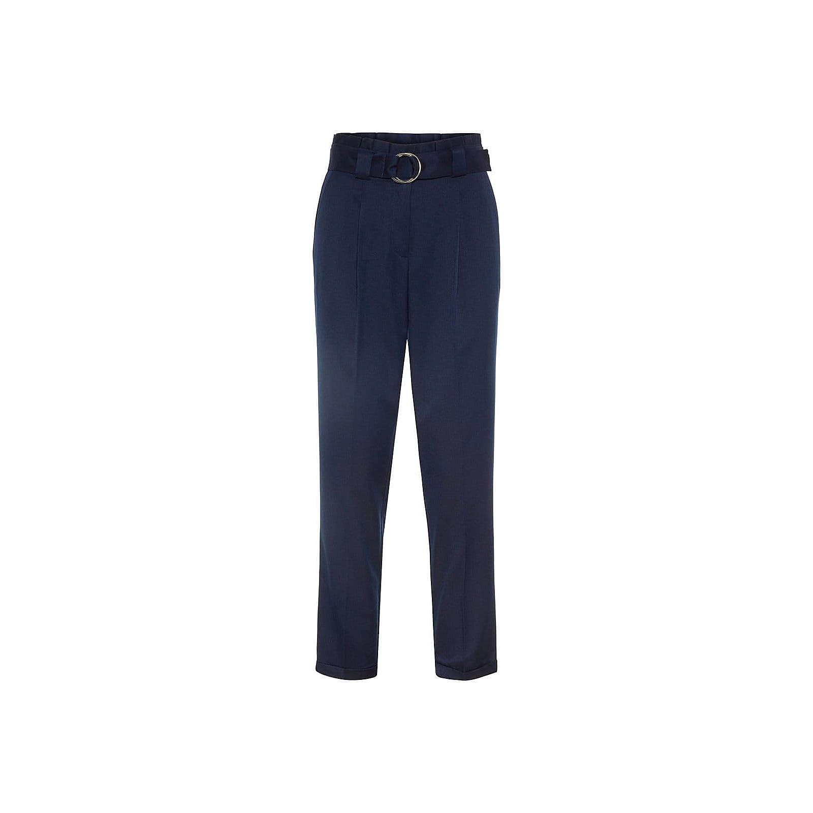 VERO MODA Bügelfaltenhose Stoffhosen blau Damen Gr. 40