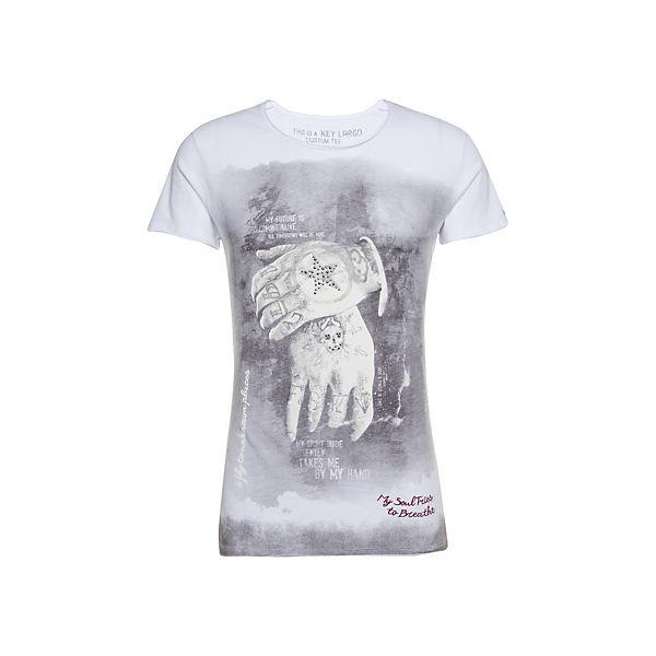 Largo Shirt shirts Round Mt Key Alive Weiß T qSVpLMzUG