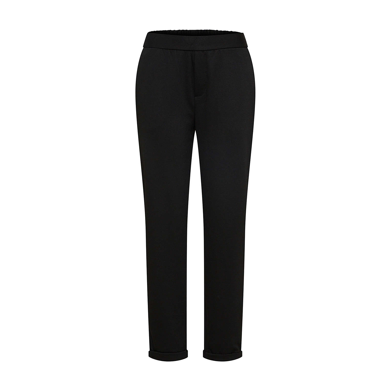 OBJECT Bundfaltenhose Stoffhosen schwarz Damen Gr. 34